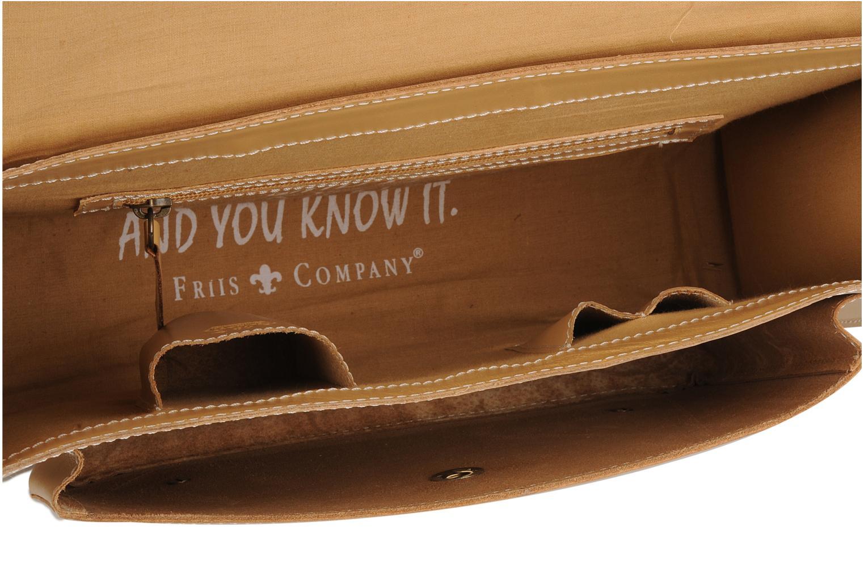 Handbags Friis & company Fold leather bag Beige back view