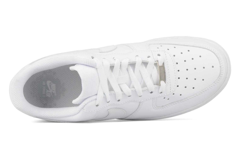 Deportivas Nike Air force 1 '07 le Blanco vista lateral izquierda