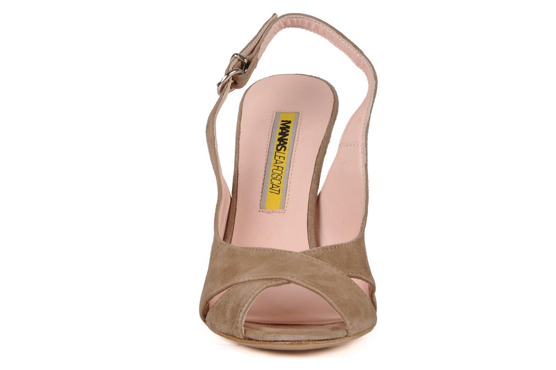 Sandales et nu-pieds Manas Pulino Beige vue portées chaussures