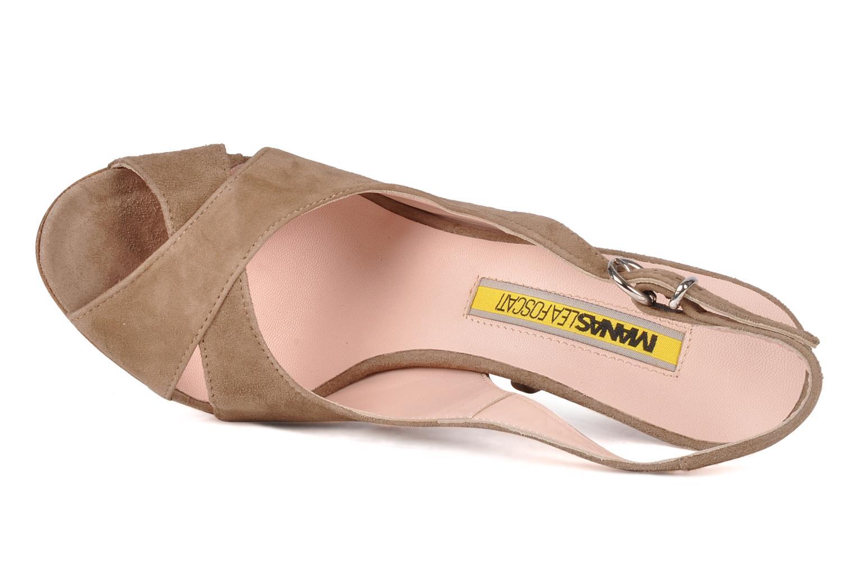 Sandali e scarpe aperte Manas Pulino Beige immagine sinistra