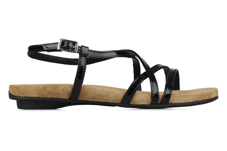 Sandalen Perlato Izalik schwarz ansicht von hinten
