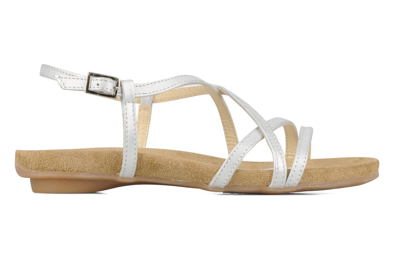 Sandalen Perlato Izalik silber ansicht von hinten