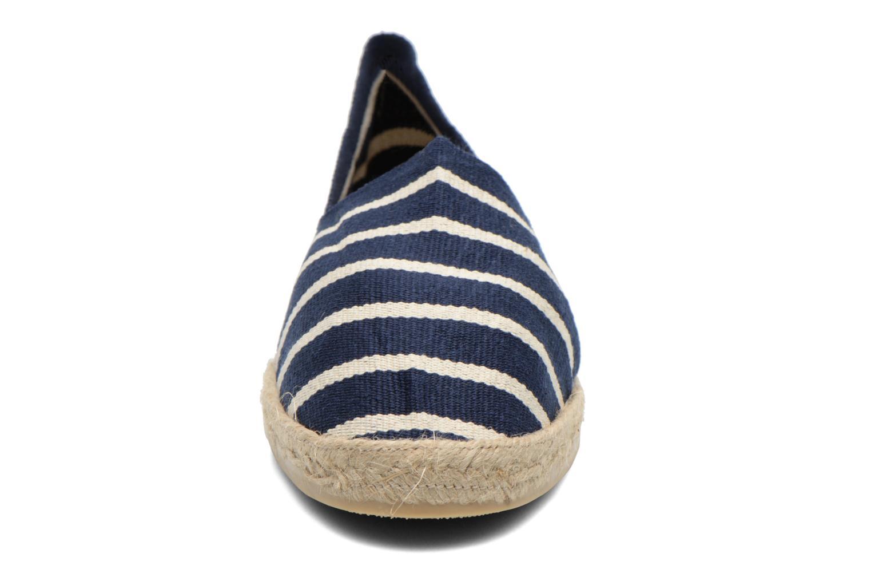 Espadrilles La maison de l'espadrille Sabline Rayure H Bleu vue portées chaussures