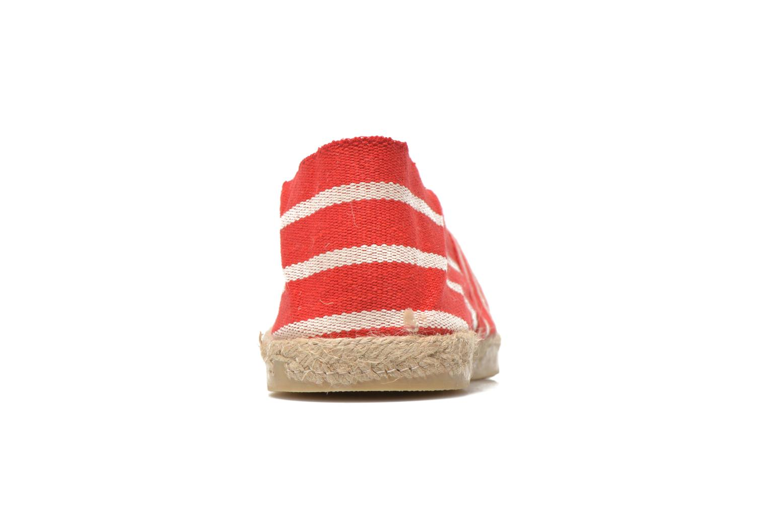 Espadrilles La maison de l'espadrille Sabline rayure f Red view from the right