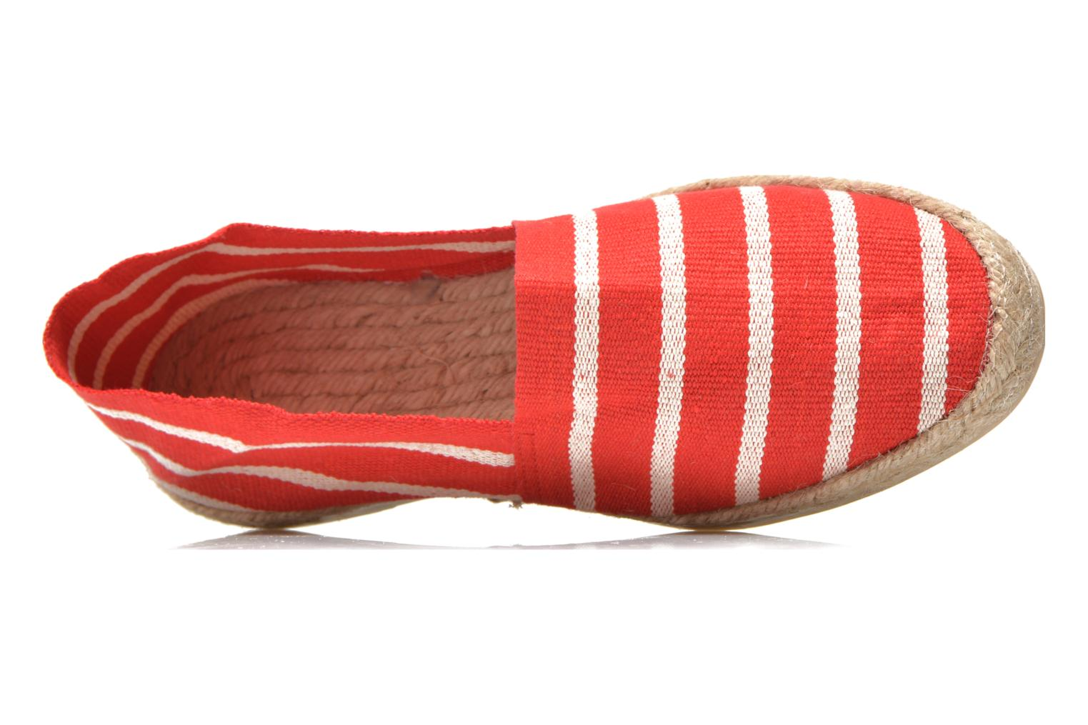 Espadrilles La maison de l'espadrille Sabline rayure f Red view from the left