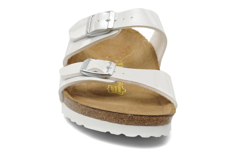 Mules et sabots Birkenstock Sydney Flor W Blanc vue portées chaussures