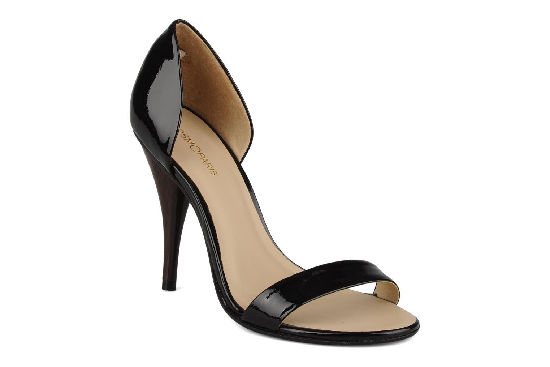 Sandales et nu-pieds COSMOPARIS Lolla Noir vue détail/paire