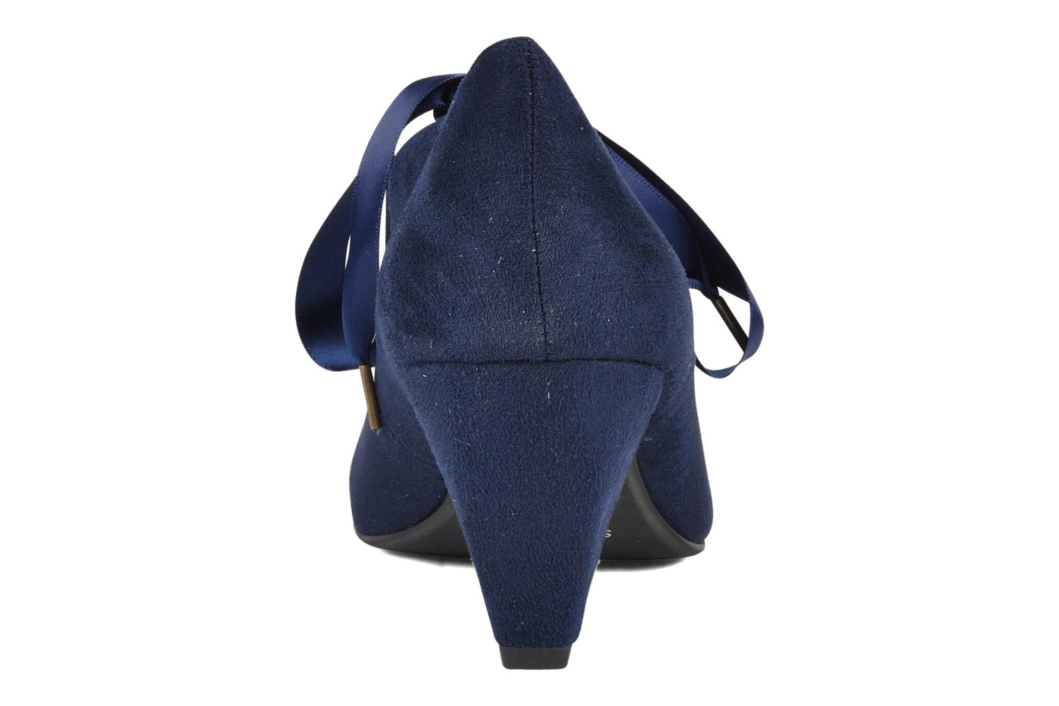 High heels Chocolate Schubar Sabato Blue view from the right