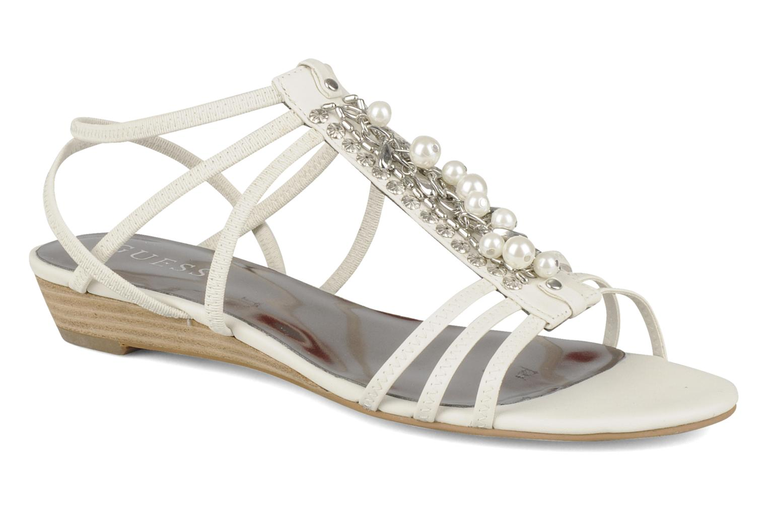 Sandals Guess Trina White detailed view/ Pair view