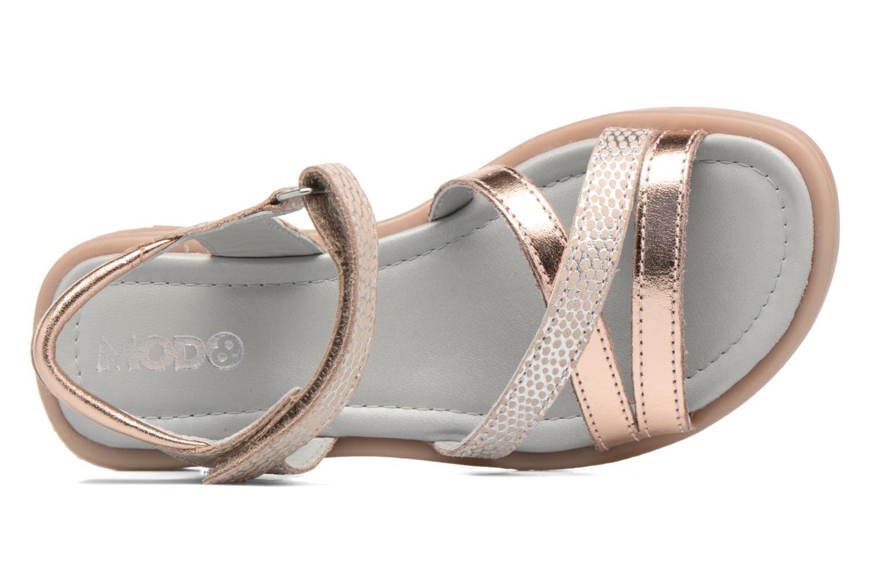 Sandales et nu-pieds Mod8 Jelguy2 Or et bronze vue gauche