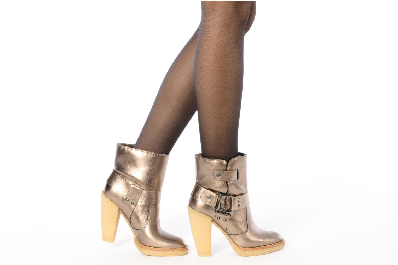 Bottines et boots Belle Tahira Or et bronze vue bas / vue portée sac