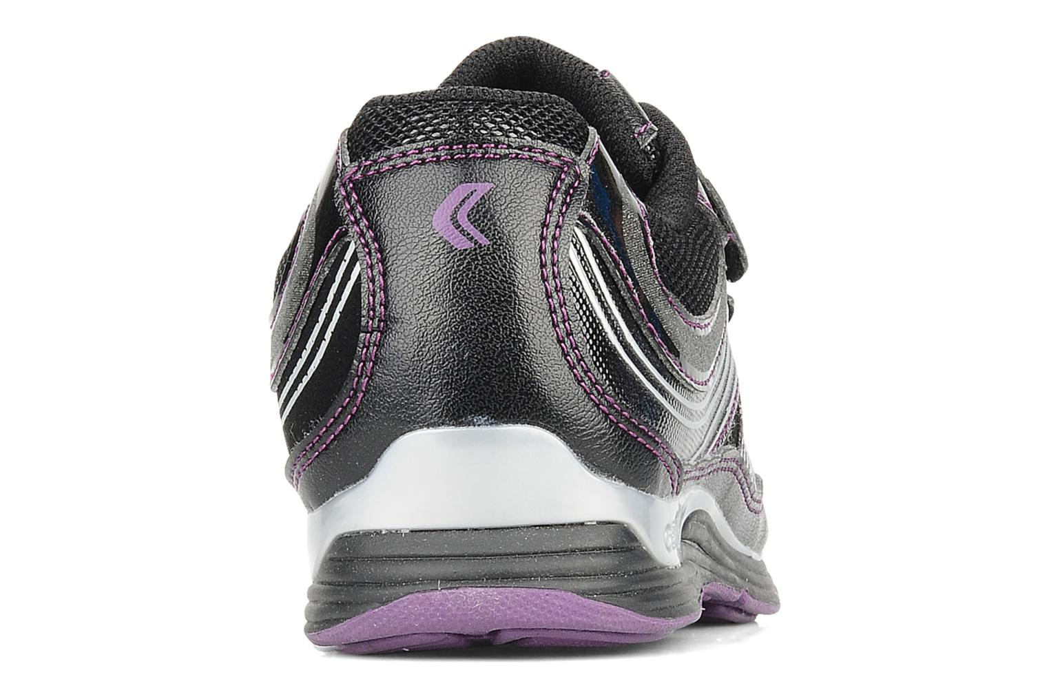 Trainers Geox J noemi g Black view from the right
