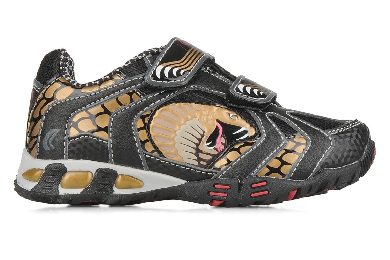 Sneakers Geox B nleclipb a Zwart achterkant