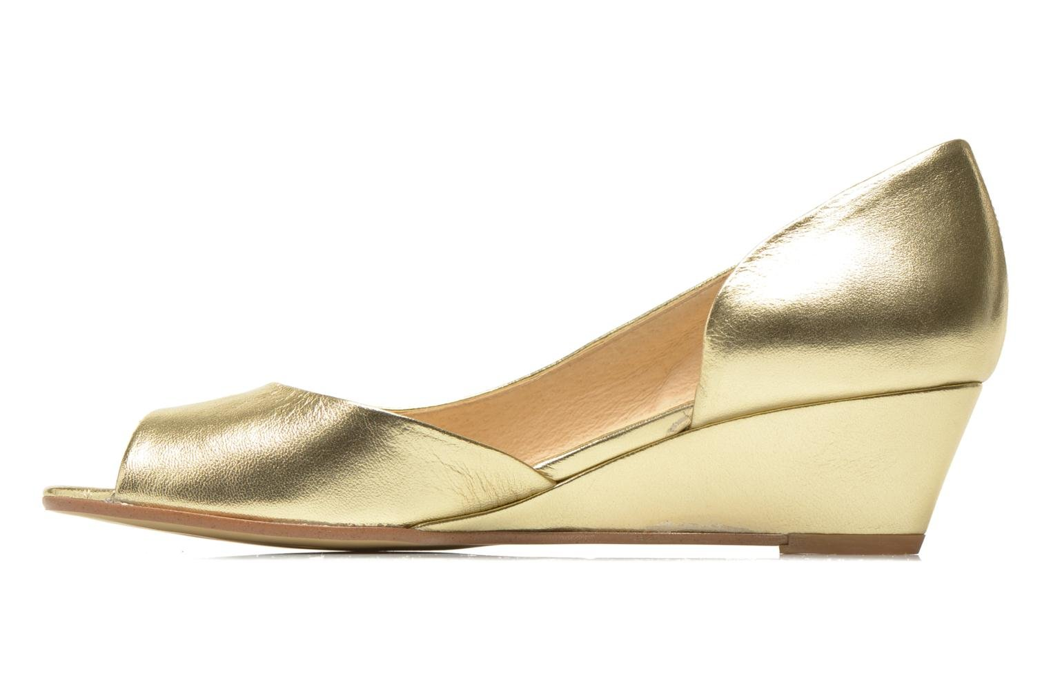 High heels Georgia Rose Phoeti Bronze and Gold front view