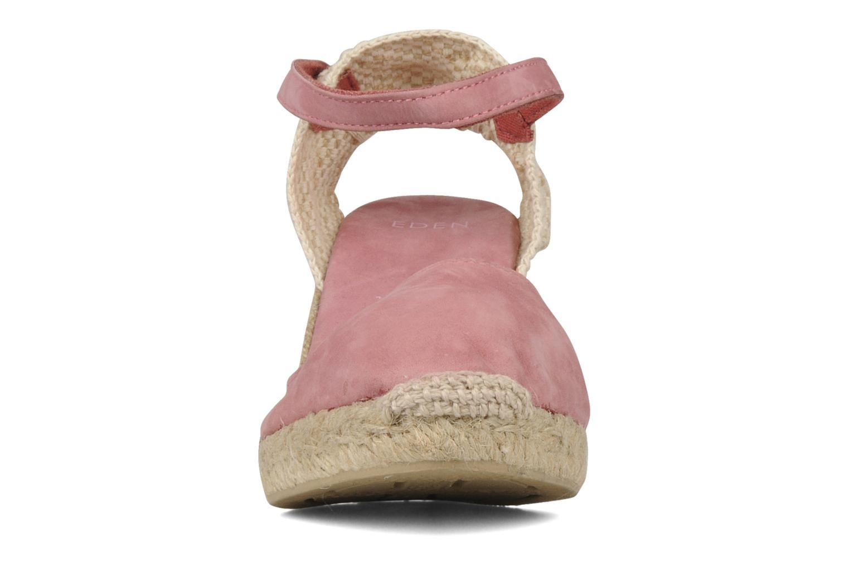 Espadrilles Eden Wedge rosa schuhe getragen