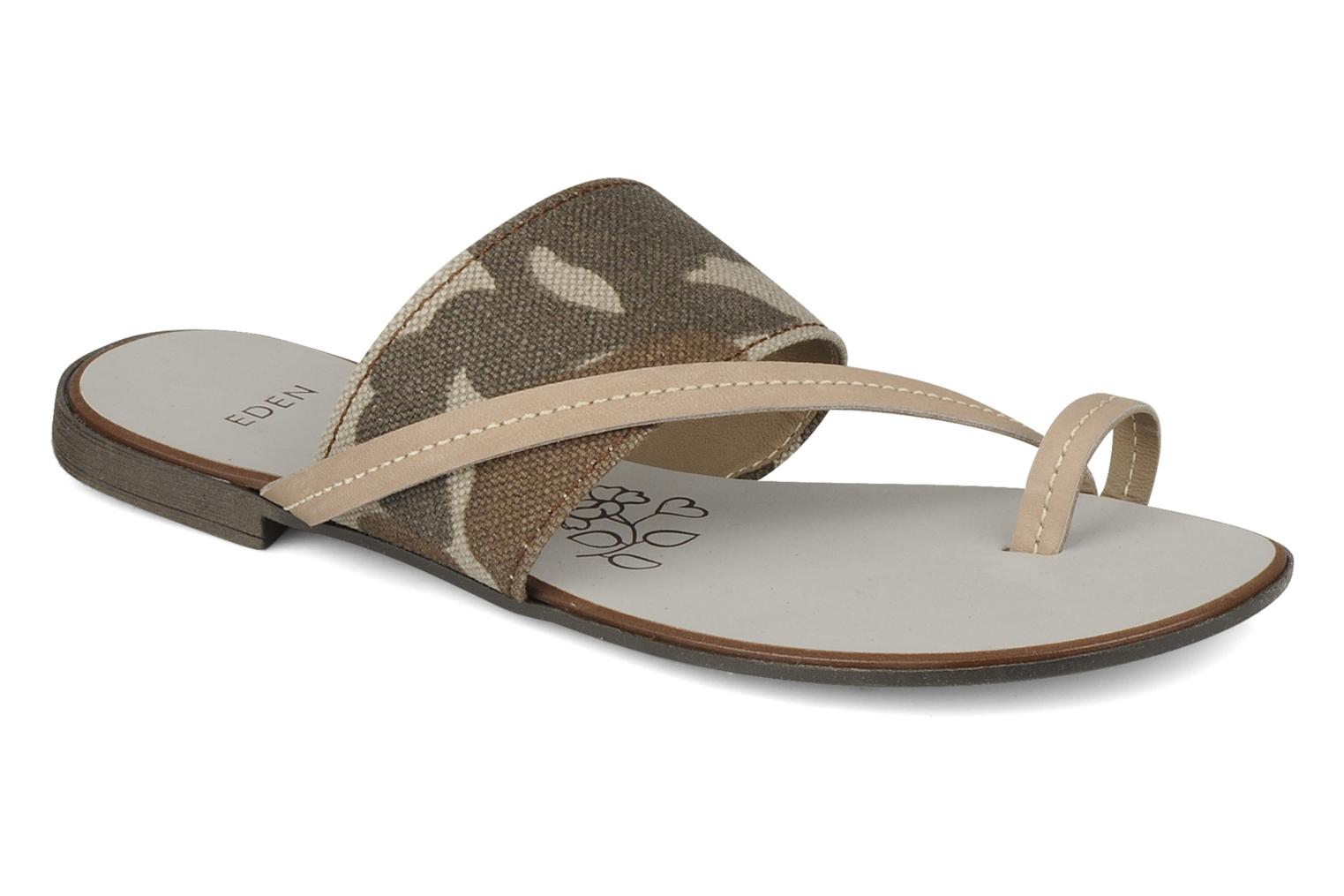 Sandals Eden Tanza Green detailed view/ Pair view