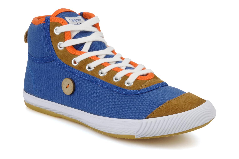 Baskets Faguo Teak w Bleu vue détail/paire