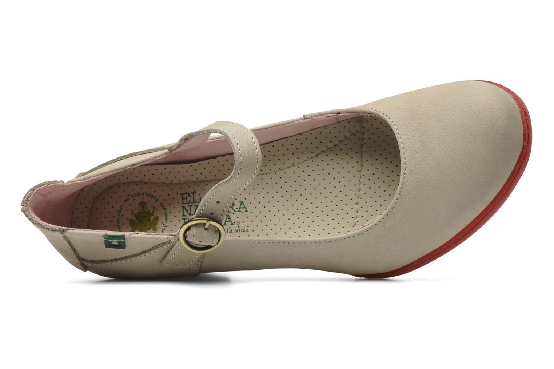 Zapatos de tacón El Naturalista Solar no860 Beige vista lateral izquierda