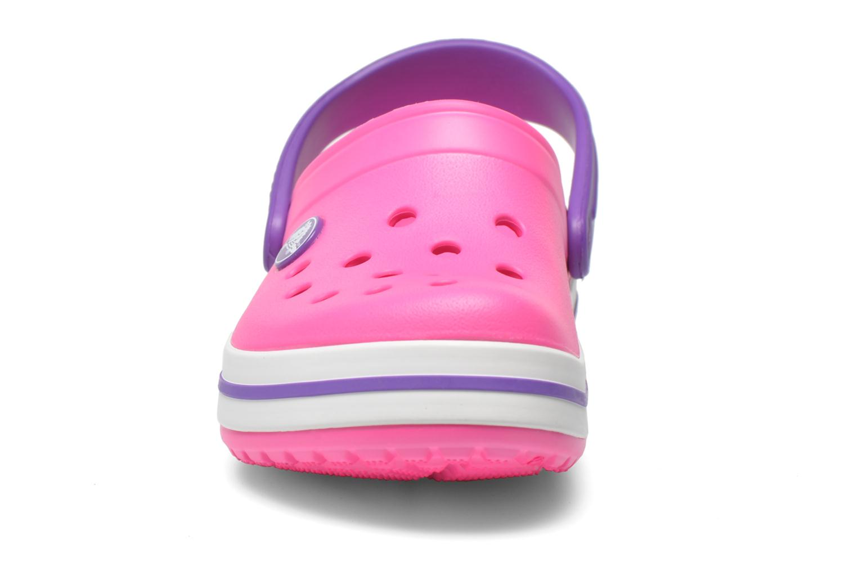 Sandalen Crocs Crocband kids rosa schuhe getragen