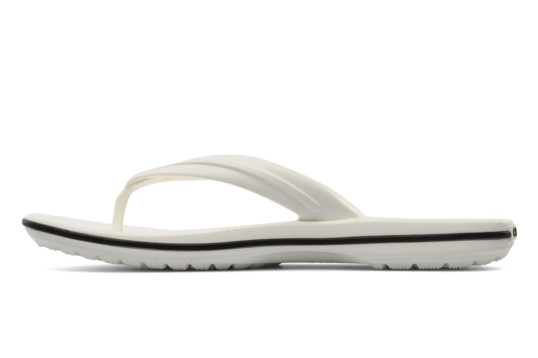 Zehensandalen Crocs Crocband Flip W weiß ansicht von vorne