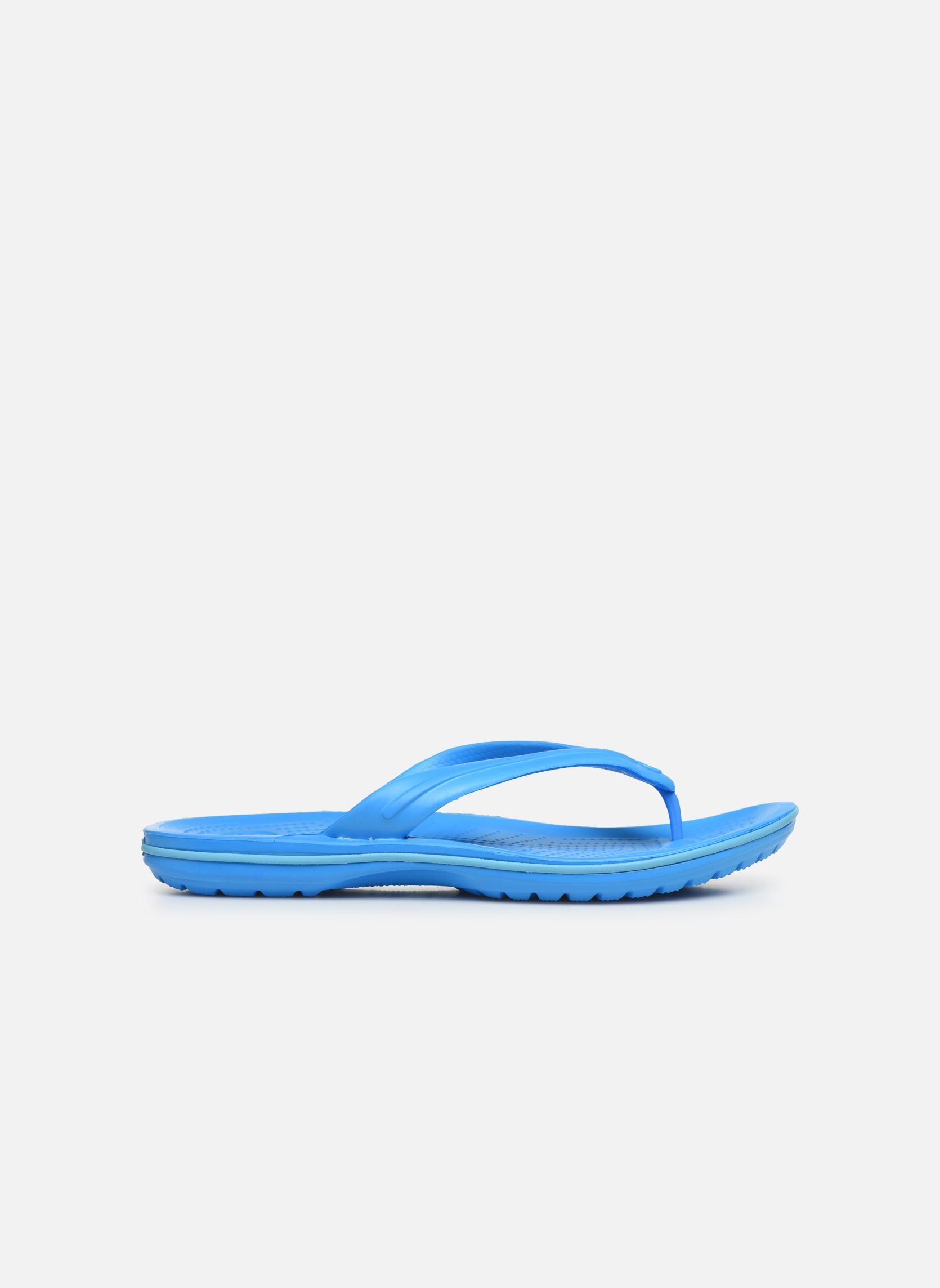 Zehensandalen Crocs Crocband Flip M blau ansicht von hinten