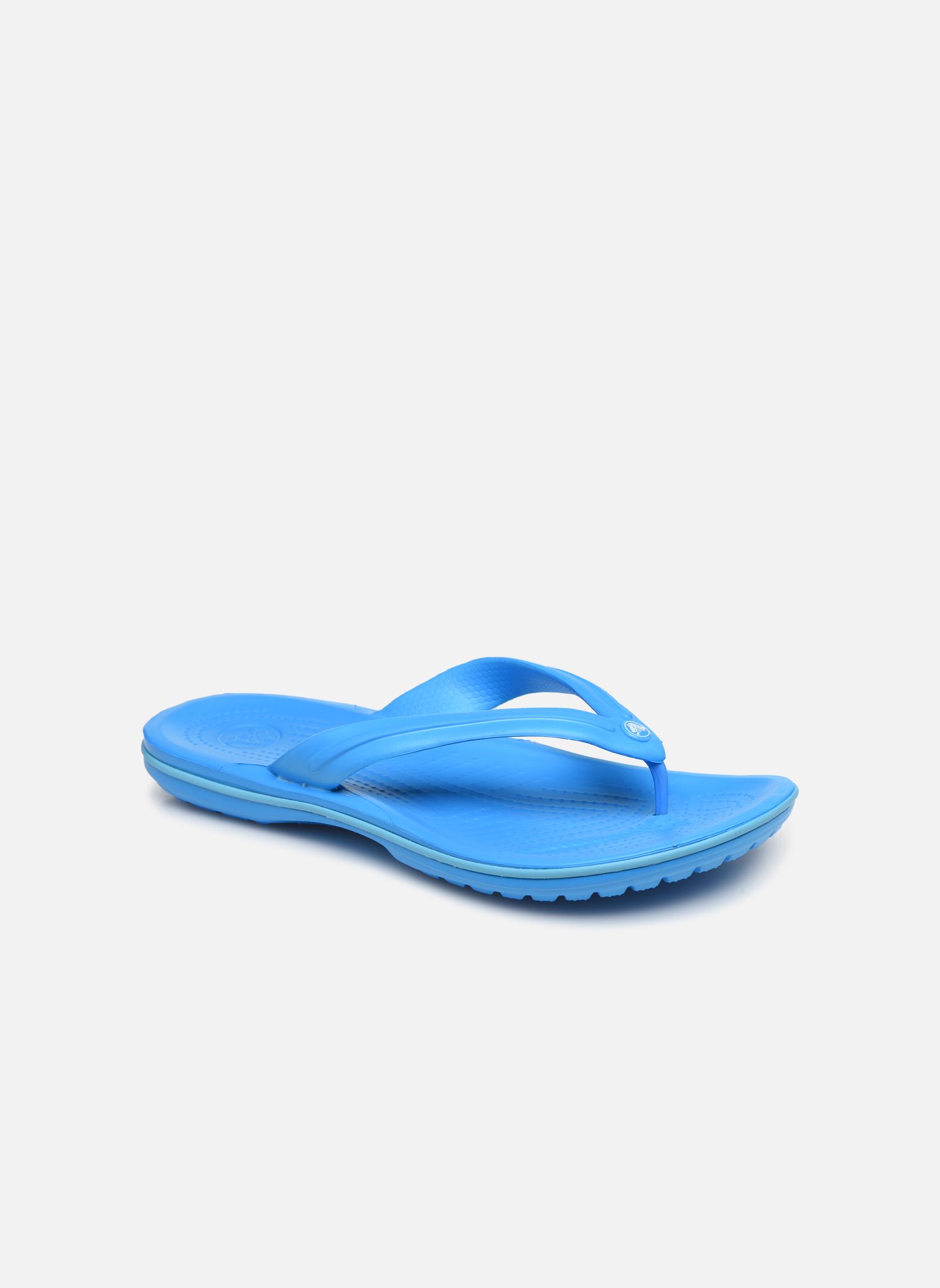 Flip flops & klipklapper Crocs Crocband Flip M Blå detaljeret billede af skoene