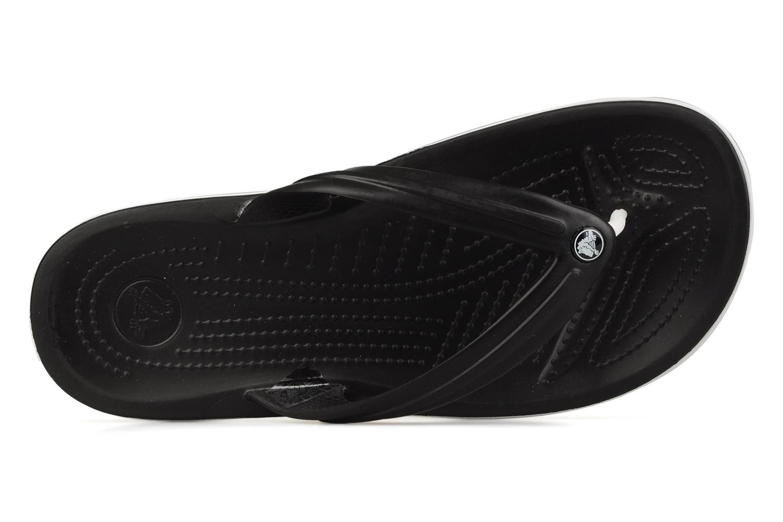 Flip flops Crocs Crocband Flip M Black view from the left