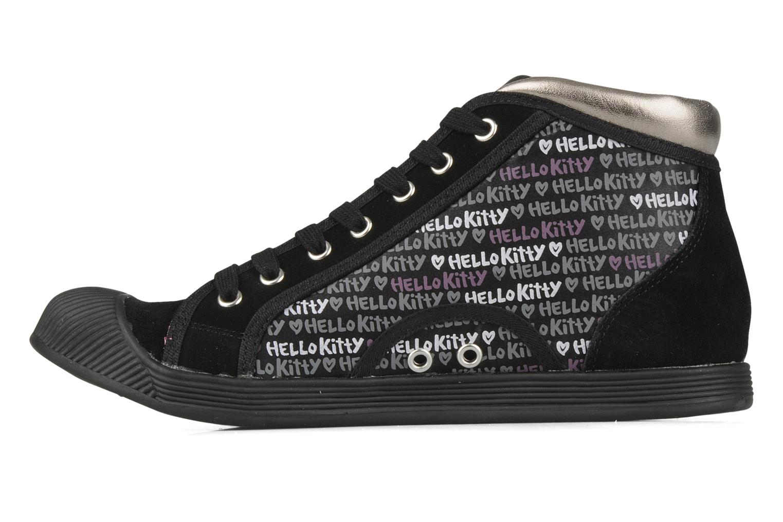 Sneakers Hello Kitty Hk luna mid Nero immagine frontale