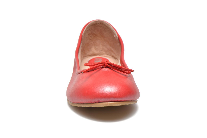 Ballerinas Bloch Arabella rot schuhe getragen