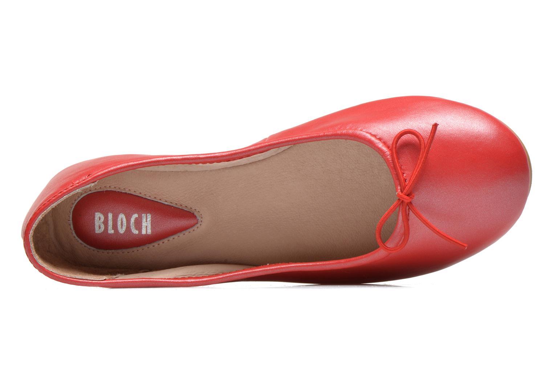 Ballerinas Bloch Arabella rot ansicht von links