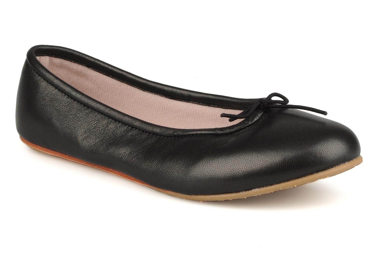 Ballerinaer Bloch Arabella Sort detaljeret billede af skoene