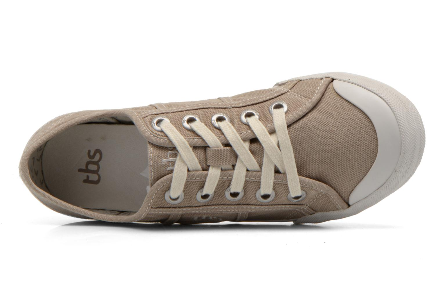 Sneakers TBS Opiace Beige immagine sinistra