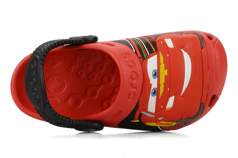 Sandalen Crocs Cars 2 Custom Clog rot ansicht von links