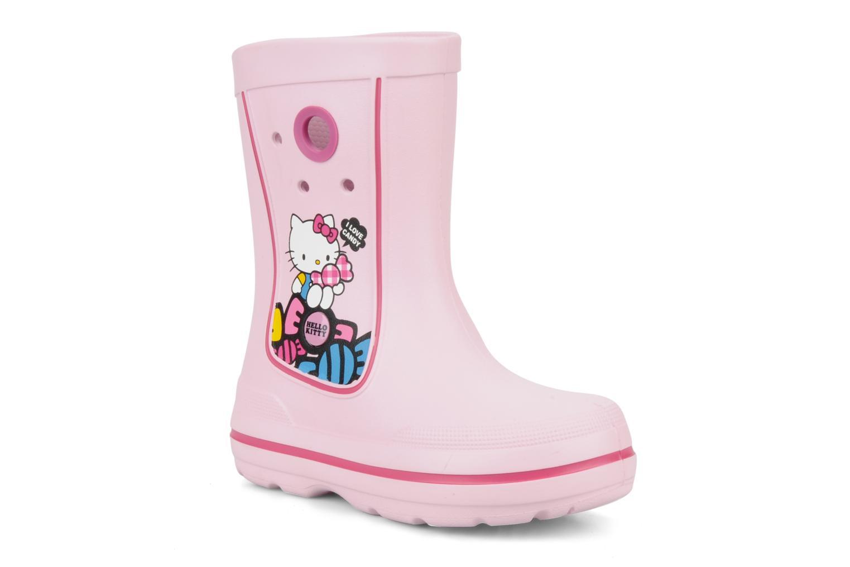 Laarzen Crocs Jaunt hello kitty Roze detail