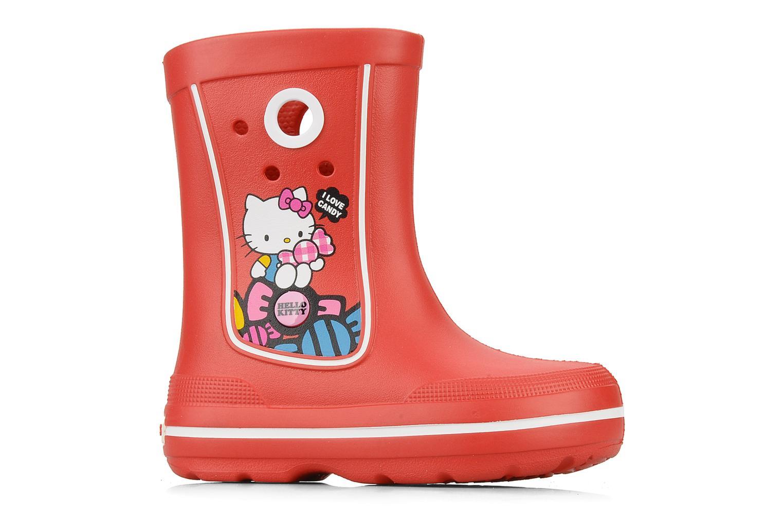 Laarzen Crocs Jaunt hello kitty Rood achterkant
