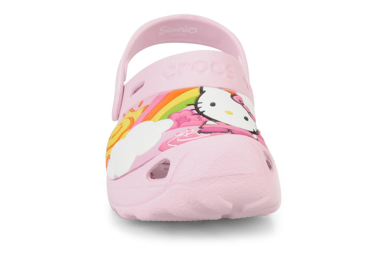 Sandalen Crocs Hello Kitty Fun Rain Or Sun rosa schuhe getragen