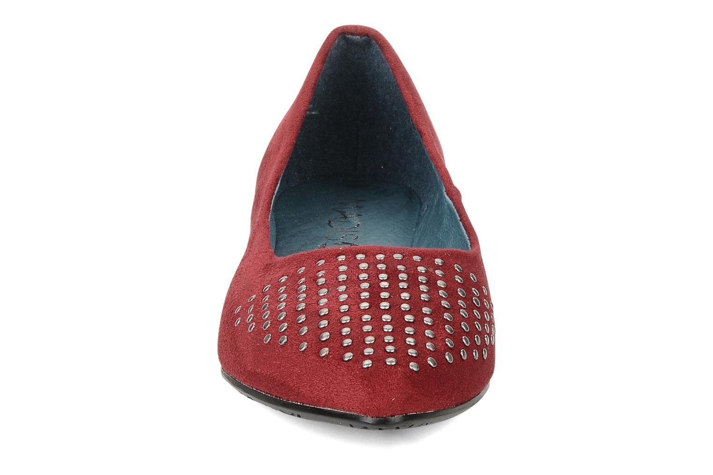 Ballerines Karston Cozi Bordeaux vue portées chaussures