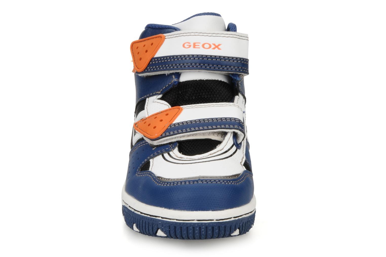 Baskets Geox J captain c Bleu vue portées chaussures