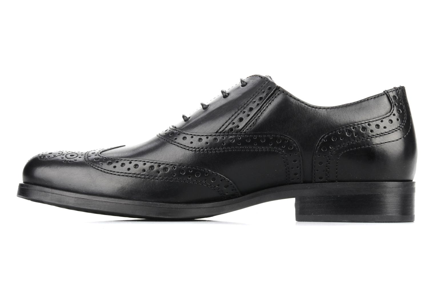 Lace-up shoes Geox U brooklyn k Black front view