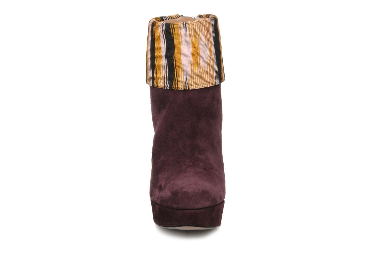 Bottines et boots Missoni Sitia Bordeaux vue portées chaussures