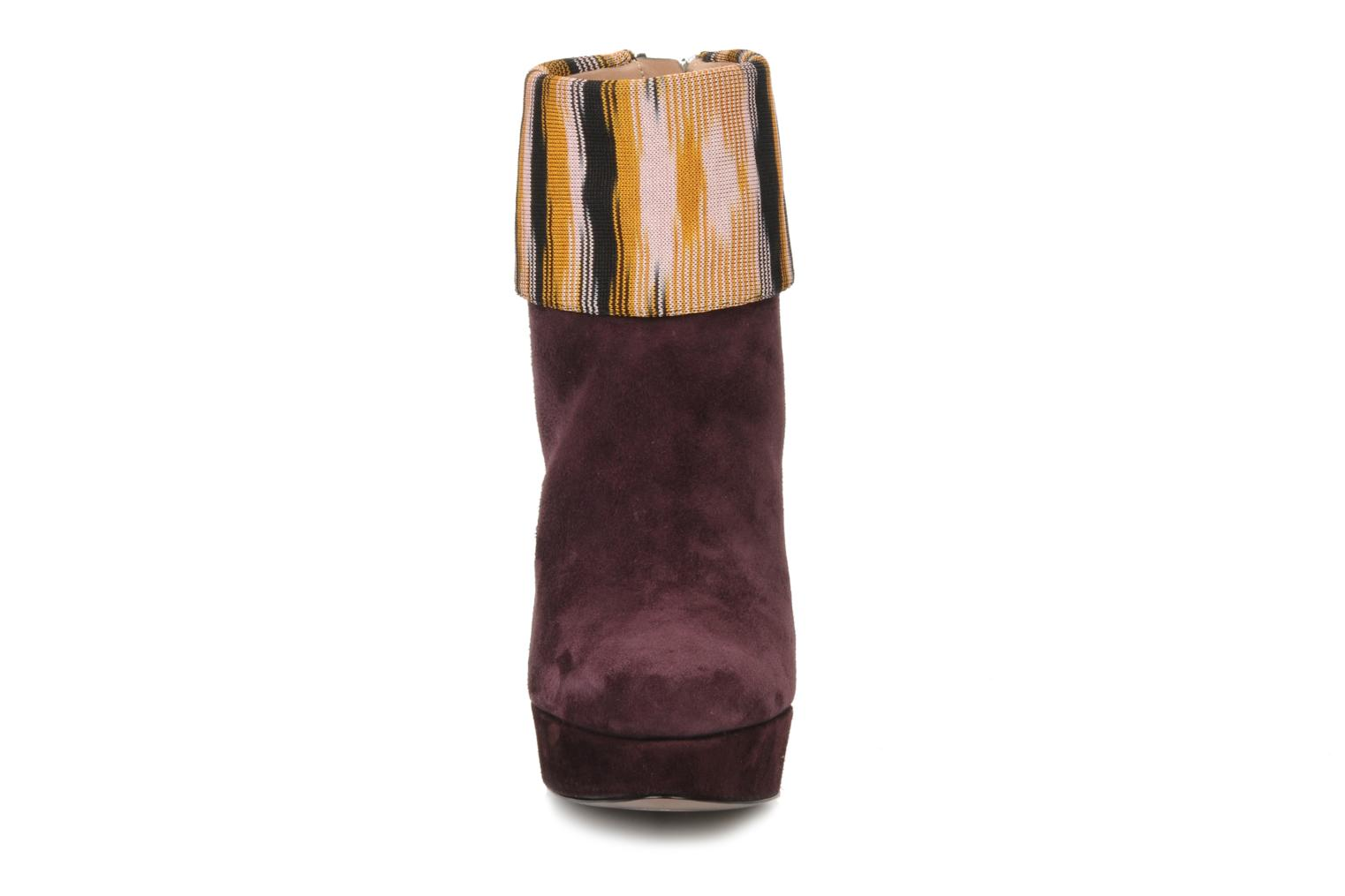 Ankle boots Missoni Sitia Burgundy model view