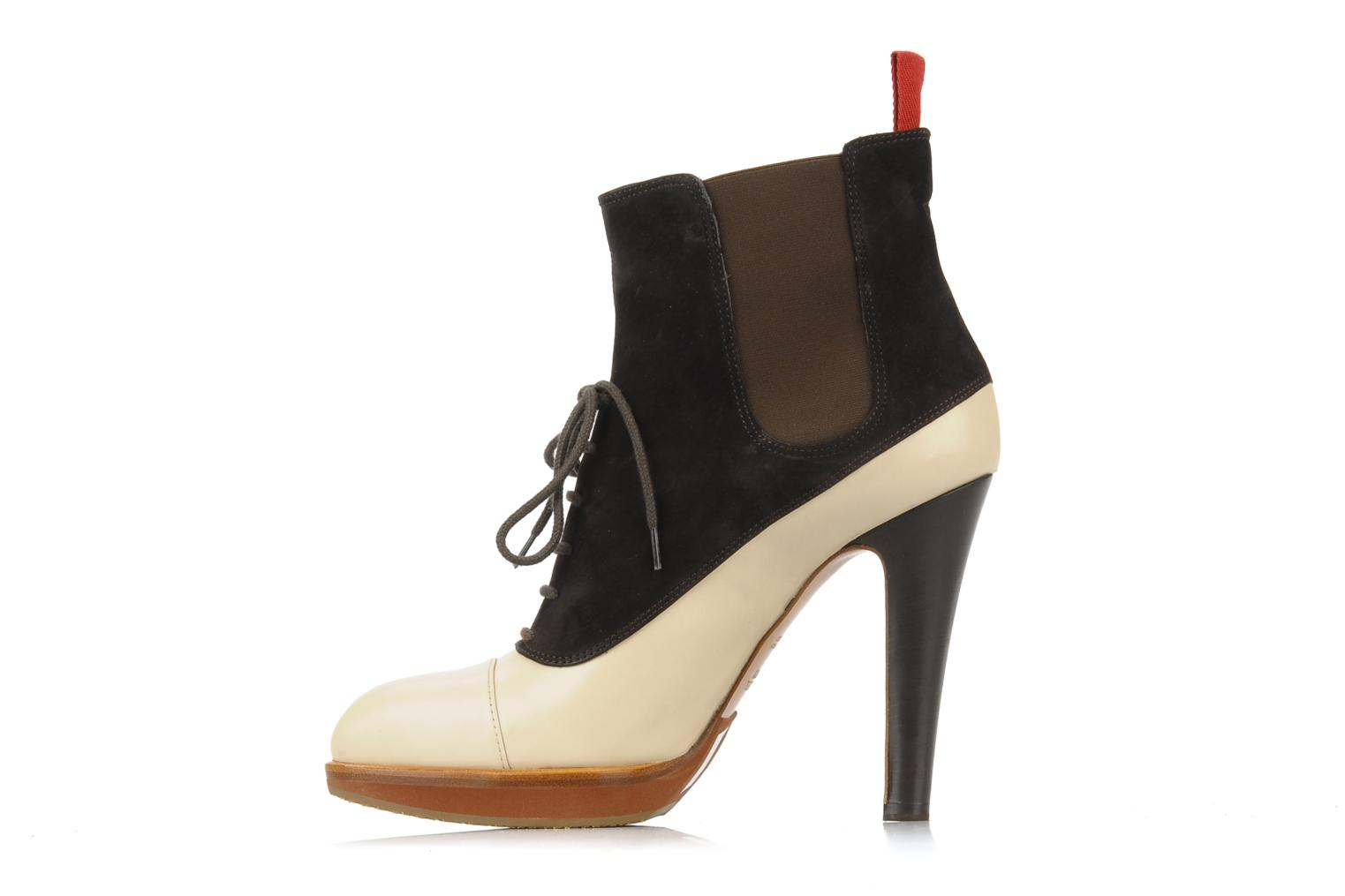 Ankle boots Michel Perry Virona Beige front view