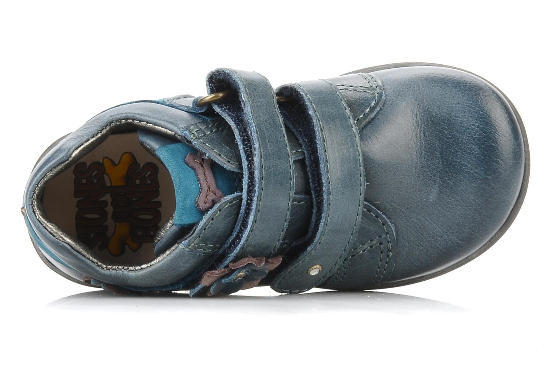Chaussures à scratch Stones and Bones Sofi Bleu vue gauche