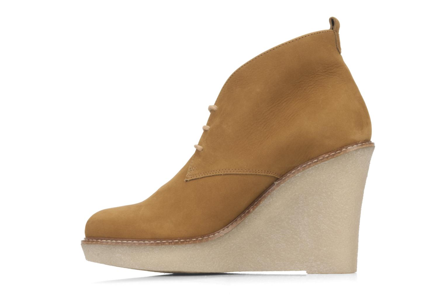 Ankle boots JB MARTIN Louve Brown front view