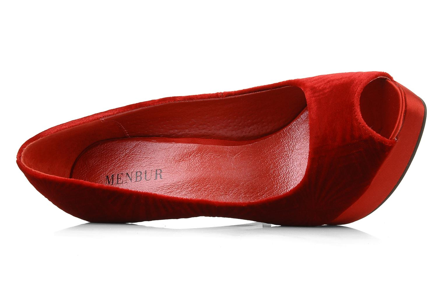 High heels Menbur Dafina Red view from the left