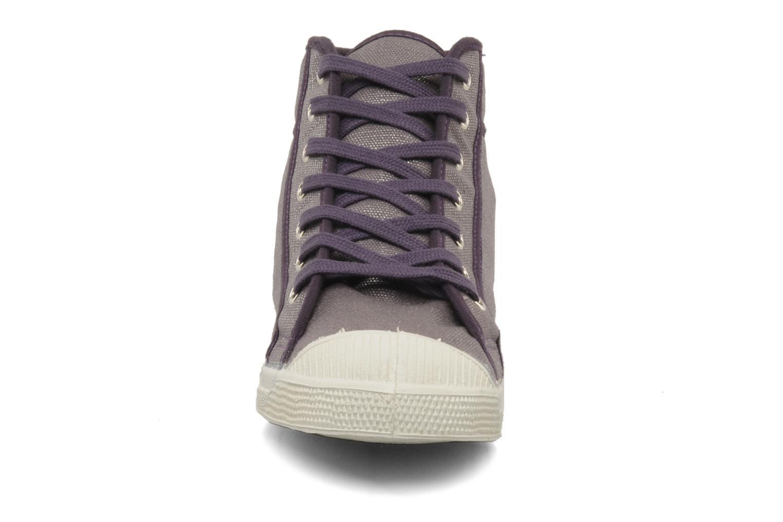 Baskets Bensimon Tennis mid shinny Violet vue portées chaussures