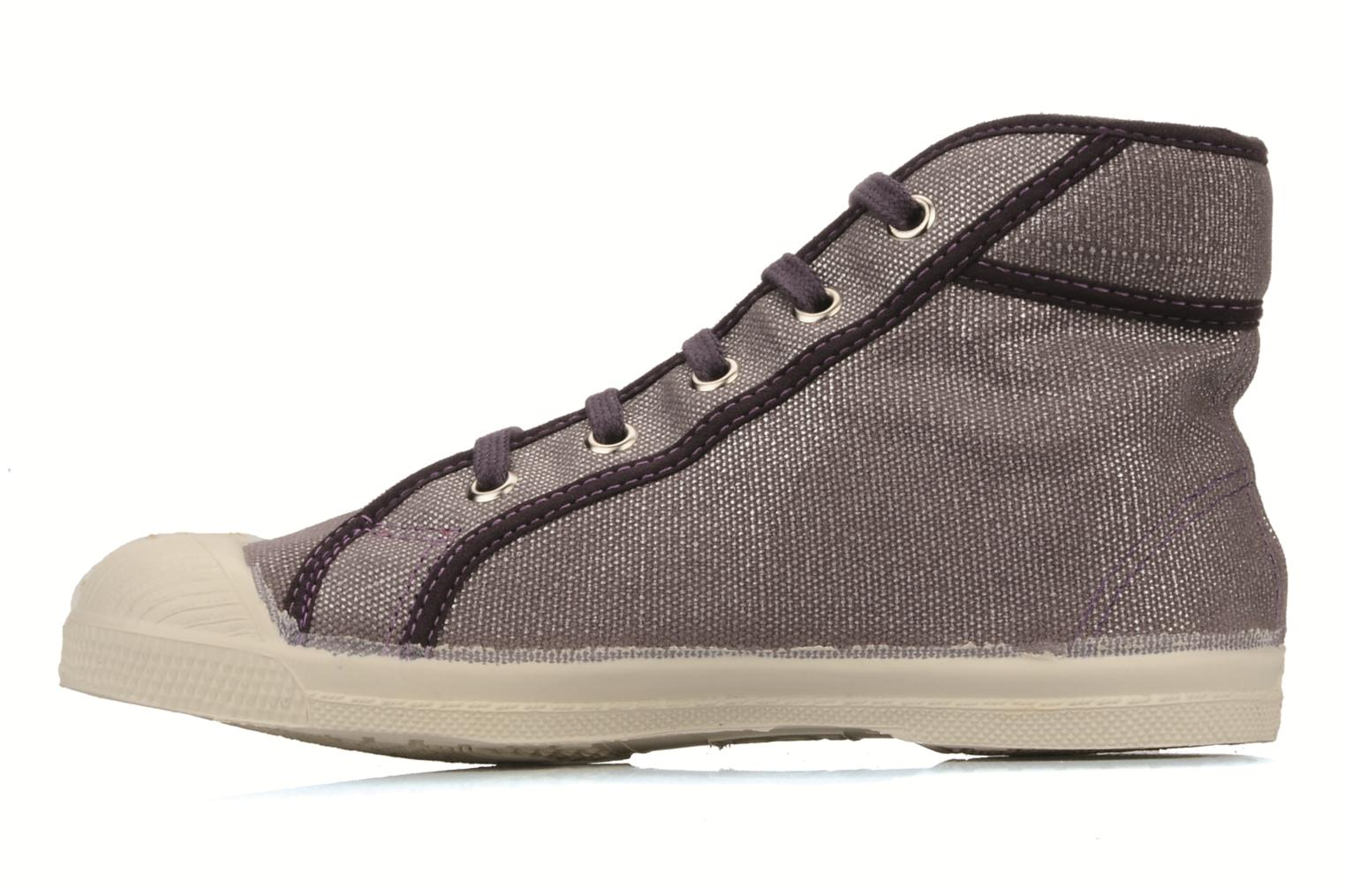 Sneakers Bensimon Tennis mid shinny e Paars voorkant