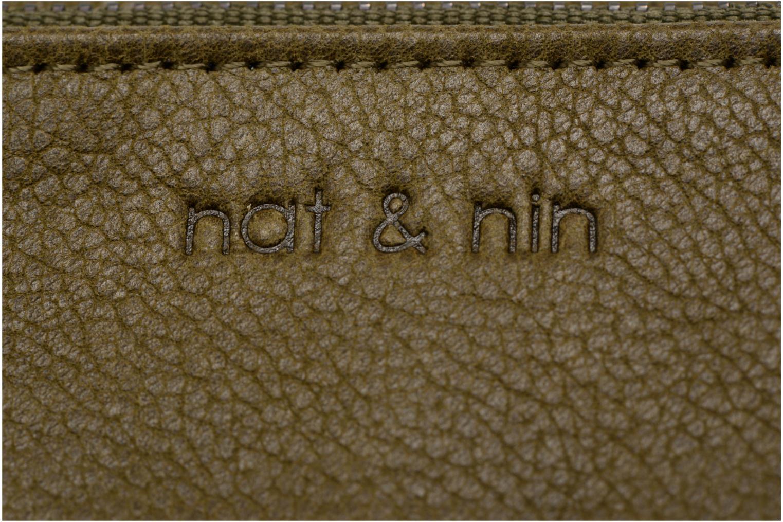 Portemonnaies & Clutches Nat & Nin Ally grün ansicht von links