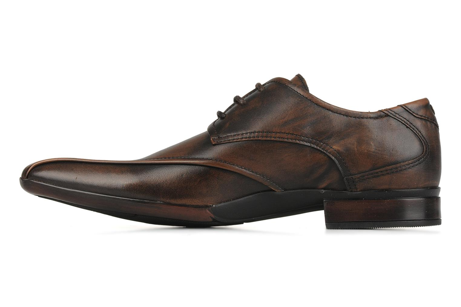 Lace-up shoes Base London Aspect Brown front view