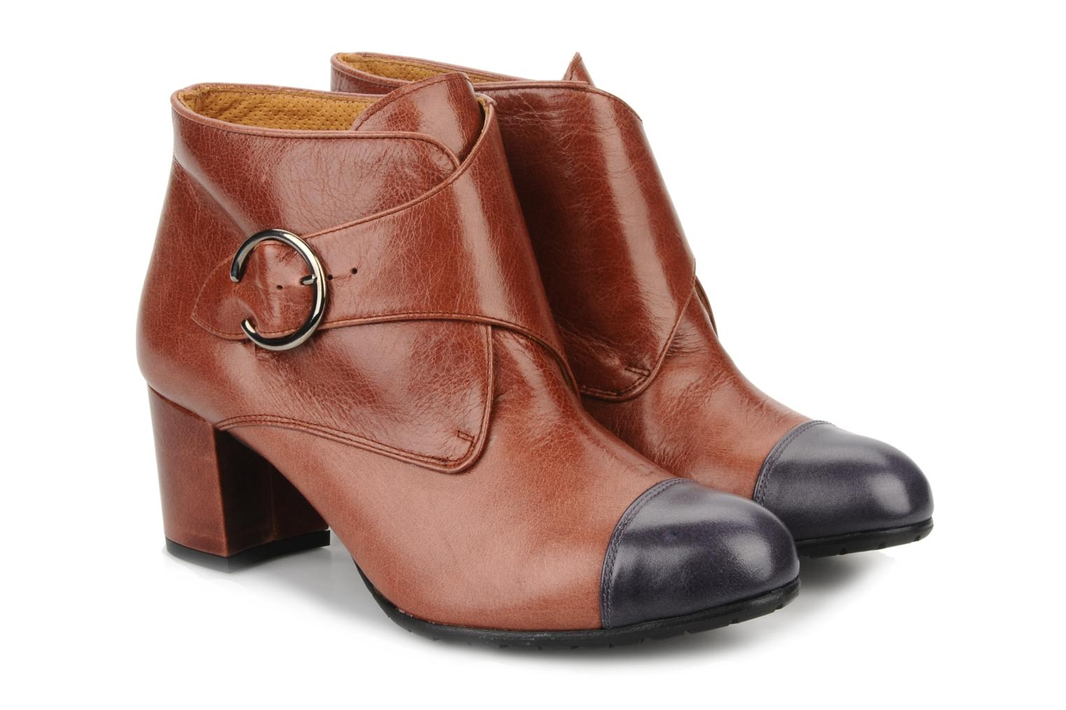 Ankle boots Maloles Anette Brown 3/4 view